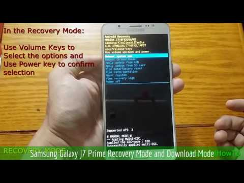 Samsung Galaxy J7 Prime Recovery Mode and Download Mode