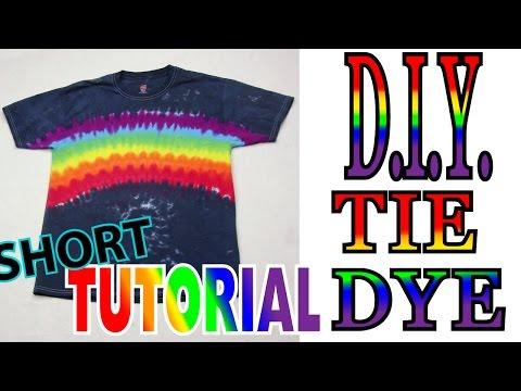 Midnight Rainbow Tie Dye Shirt [Short Tutorial] #64