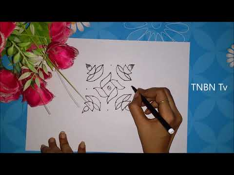 creative kolam designs with dots | diwali rangoli designs with dots | diwali muggulu designs