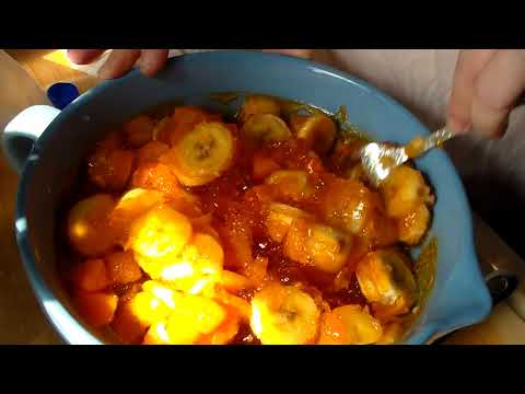 Orange, Banana Sweet Cream Jello Salad