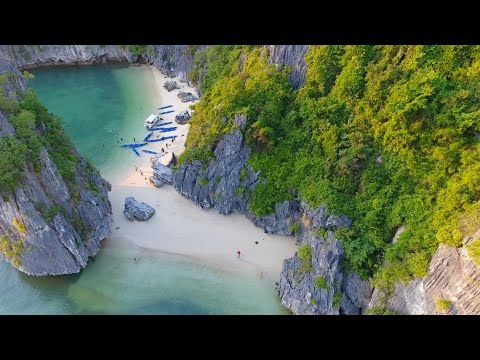 Halong Bay with a DRONE Orchid Cruises
