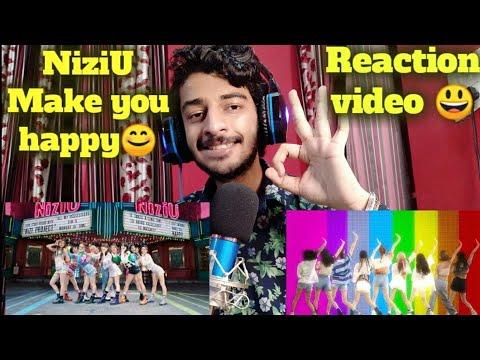 Indian Reacting to NiziU 『Make you happy』 M/V