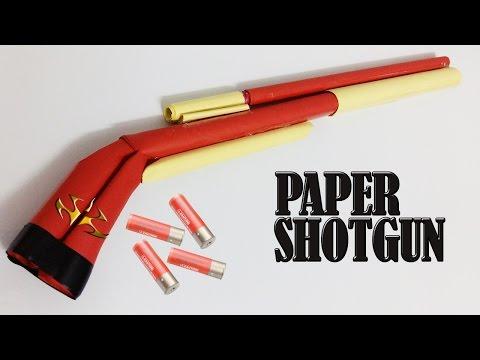 How to make a  paper shotgun that shoots