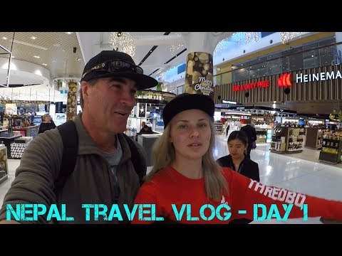Nepal Travel Vlog Day 1 -  Sydney to Kathmandu Via Guangzhou China