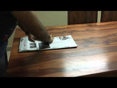 Making a paper bag with newspaper