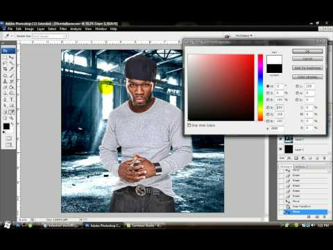 Making a CD Cover on Photoshop CS3 (ACTUAL TUTORIAL W/ SOUND)