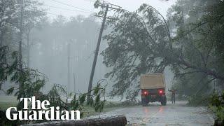 Life-threatening Hurricane Florence makes landfall in North Carolina