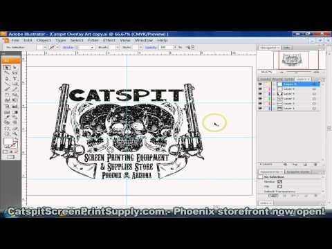 Creating Screenprinting Art: Adobe Illustrator Distressed Or Textured Effect