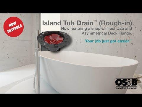Island Tub Drain Installation - Concrete