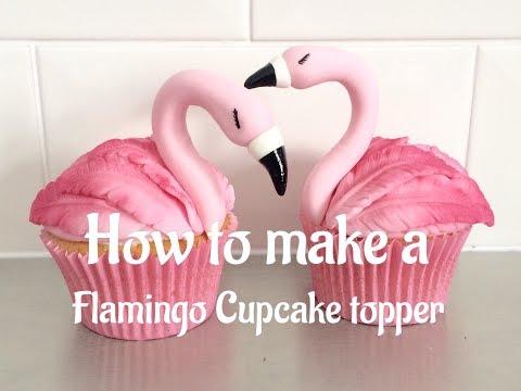 How to make Flamingo Cupcake Toppers tutorial