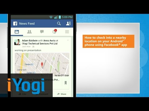How to check into a nearby location on your Android™ phone using Facebook® app in  LG L9