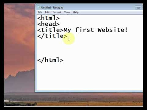 HTML Tutorial 1 (Designing A Website In Notepad - Basics and Beginnings) in urdu
