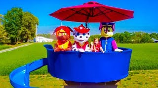 Paw Patrol Lookout Tower Scare and Seek with the Assistant and Rubble
