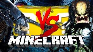 Minecraft: AVP LUCKY BLOCK CHALLENGE | PREDATOR INVASION!!