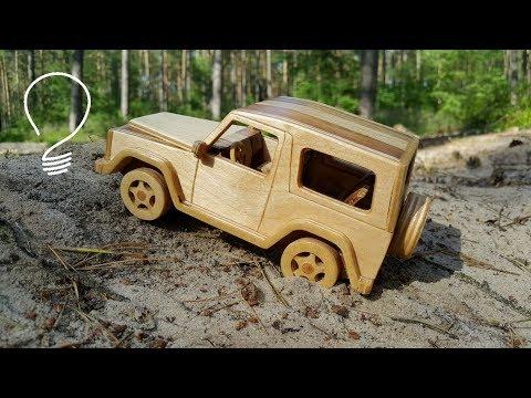 Wooden Mercedes G-Class // Off Road Test Drive