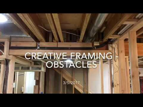 Finishing My Basement - Getting Creative Framing Obstacles