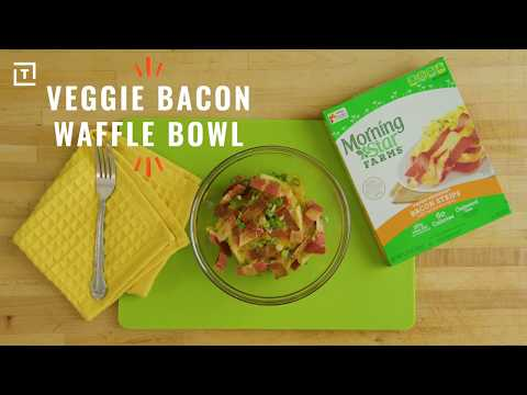 MorningStar Farms® Veggie Bacon Waffle Bowl Recipe