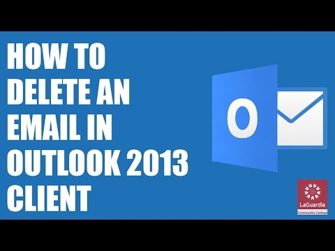 How to Delete Email in Outlook 2013