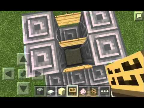 Minecraft pe 9.5 how to make a automatic gate