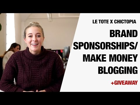 How to Get Sponsored and Make Money Blogging + GIVEAWAY | LE TOTE x Chictopia