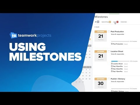 Teamwork Projects - Using Milestones