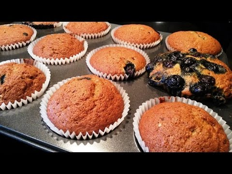 Simple To Make Banana-Blueberry Muffins