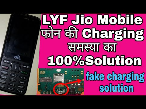 Lyf jio keypad mobile Rs.1500 charging 100%solutions,jio phone F90m charging not working solution