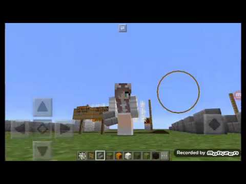 HOW TO MAKE A VOLLEYBALL COURT MINECRAFT PE