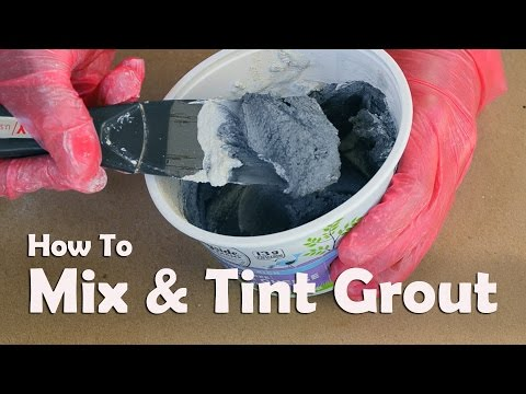 Mosaics Tutorials: How To Mix and Tint Grout For Mosaics