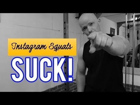 INSTAGRAM SQUATS SUCK!!! (How To Squat Properly For A Bigger Bum)