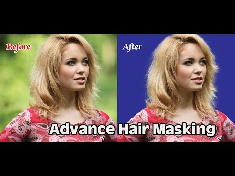 Photoshop Hair masking Advance tutorial | How to Cut out Frizzy Hair In Photoshop