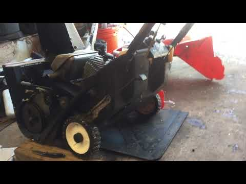 How to Replace Belt and Tensioner Spring On Ariens 522 Single Stage Snowblower