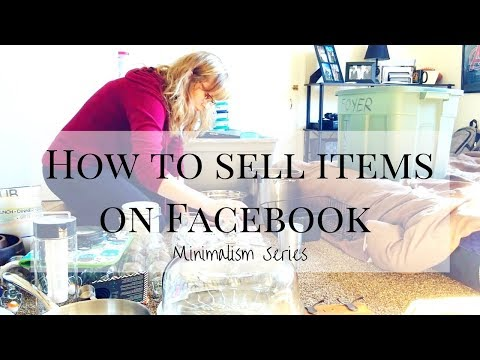 How to Sell On Facebook Marketplace Yard Sale Pages | Step-by-Step | Minimalism Series