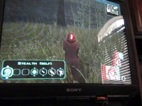 The Kotor II lightsaber in the face glitch