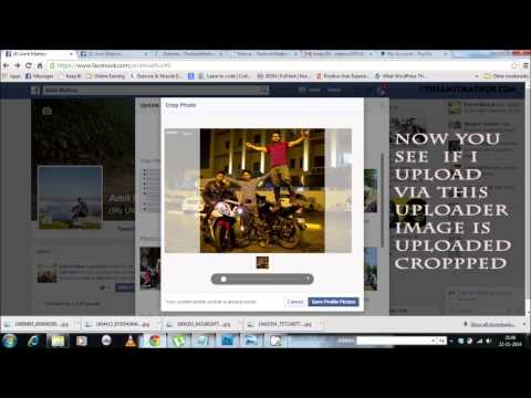 How to Upload Full size profile picture without cropping on Facebook 2017 FB HD