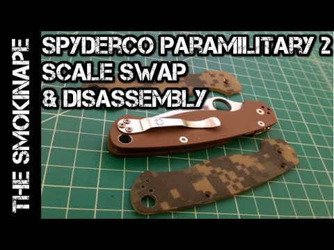 Spyderco Paramilitary 2 Knife - Scale Swap and Disassembly