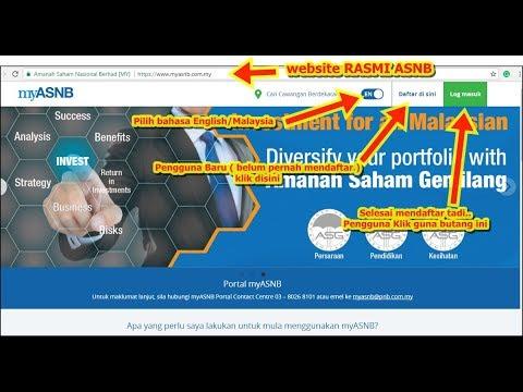 Cara daftar online Portal ASNB - Please klik butang