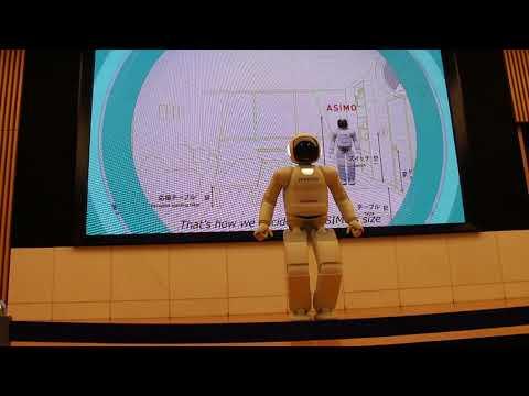 Asimo robot show at Honda Welcome plaza