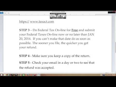 FREE FASTER TWO WEEK TAX REFUND FOR 2014 - 2015