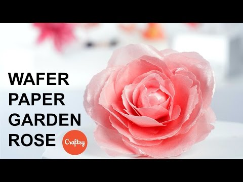 Wafer Paper Rose Step-by-Step | Cake Decorating Tutorial with Stevi Auble