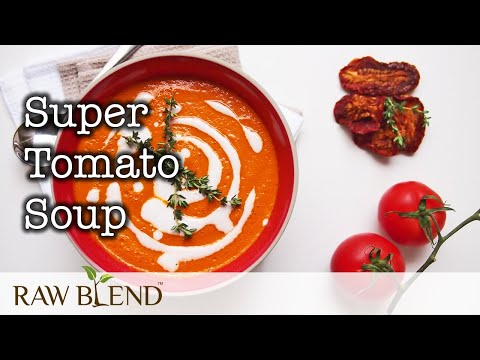 How to Make Hot Soup (Super Tomato Recipe) in a Vitamix Pro 750 Blender
