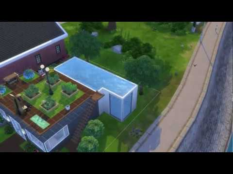 The Sims 4: How to make a pool on the second floor.