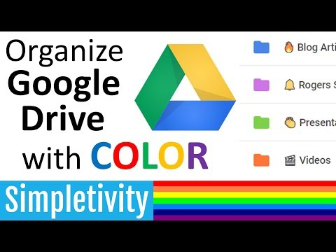 Organize Google Drive with Colors and Icons 🗂️
