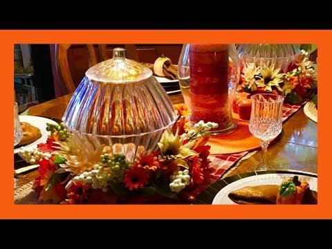 ~DIY~ 🍁Dollar Tree Fall Glass LIGHT UP Pumpkin Centerpiece🍁