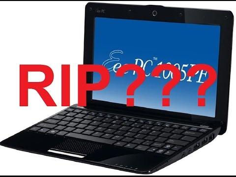FTVlog 63 - Asus EEE PC 1005PE Dead Black screen won't boot