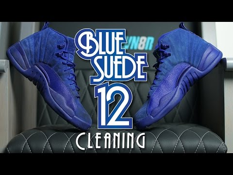 How to clean Blue Suede Jordan 12!!