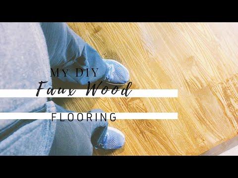 DIY WOOD FLOORS // TRYING FAUX WOOD FLOORING // PAPER BAG FLOORS- VEDA 13