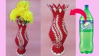 Plastic Bottle Flower Vase   Vase With Plastic Bottle   Best Out Of Wast Plastic Bottle