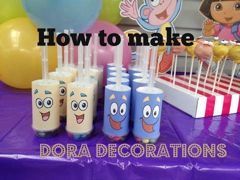 How to make Dora The Explorer Party Decorations with FREE Printables at home