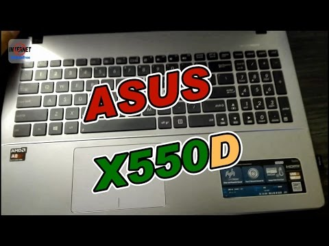 Disassemble Asus X550D  - Take a part  &  Cooler Cleanup